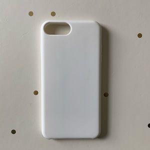 CYLO White Silicone iPhone 7 Plus & 8 Plus Case